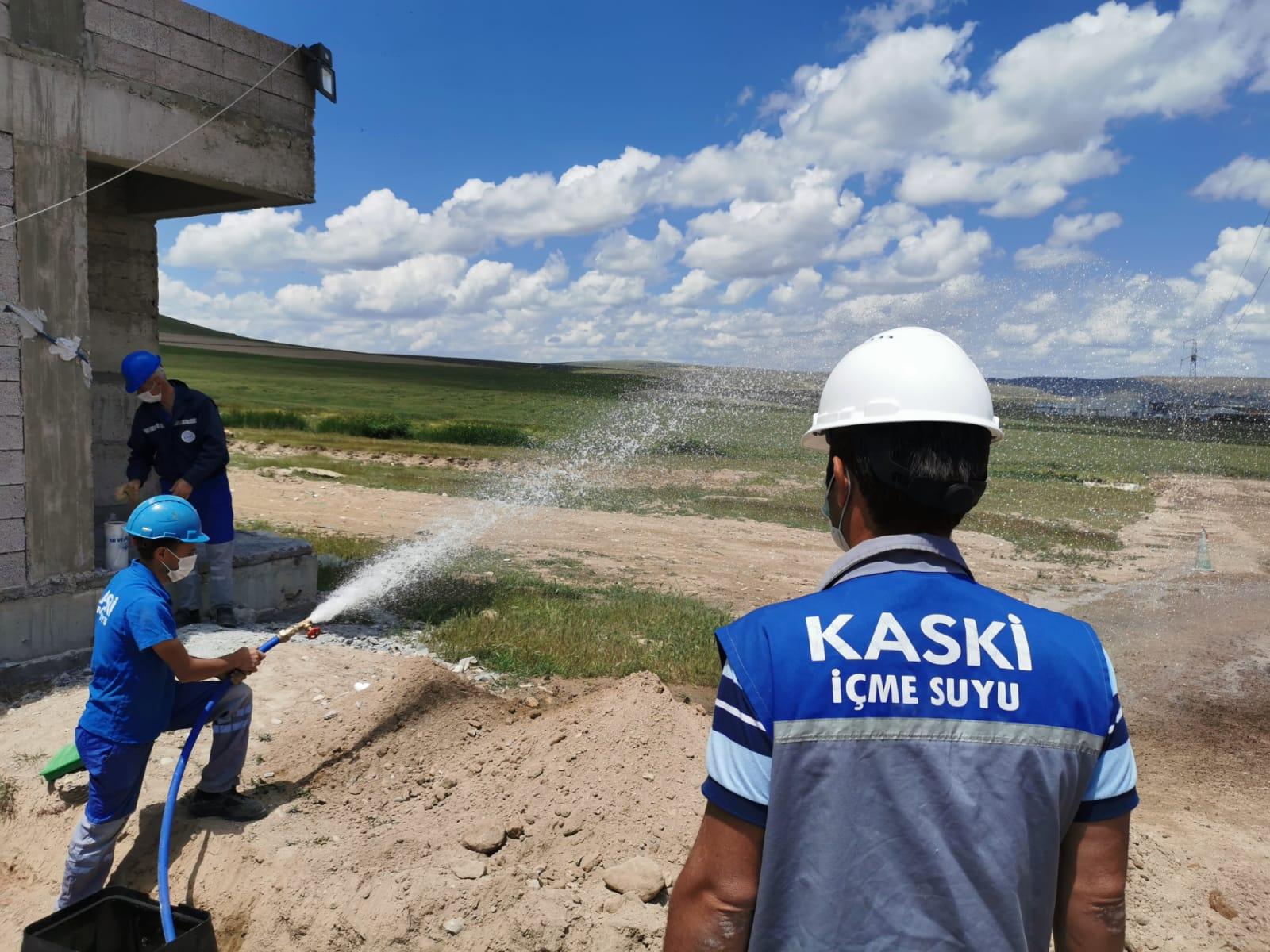 Terziköy konutları içme suyuna kavuştu...